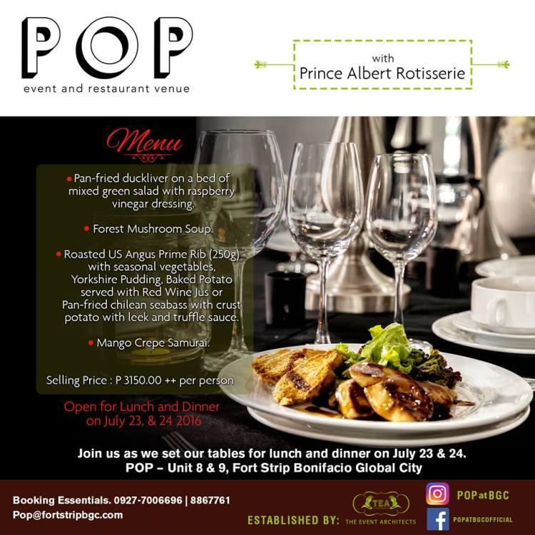heyjaey pop bgc photo (c) POP event and restaurant venue