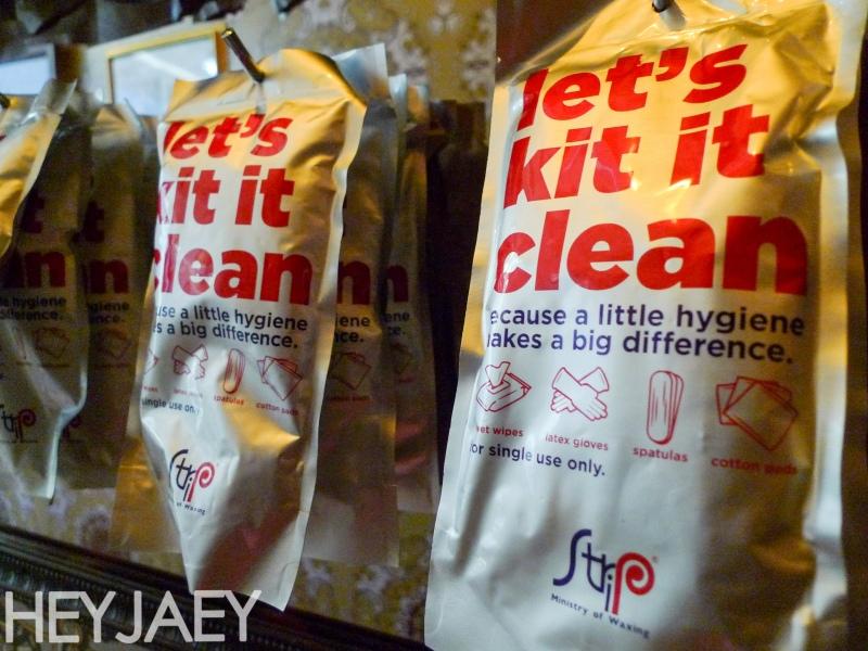 hey jaey strip manila individual waxing kits