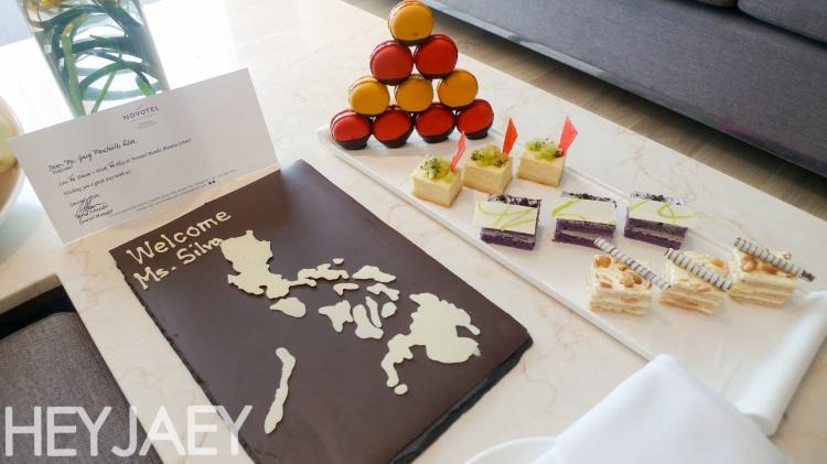 Novotel Araneta Manila Executive Suite Welcome set up