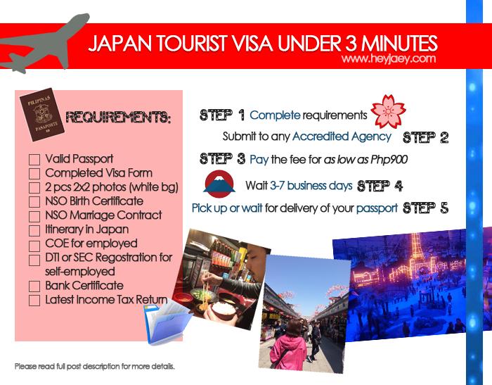 applying for a japan tourist visa 2016