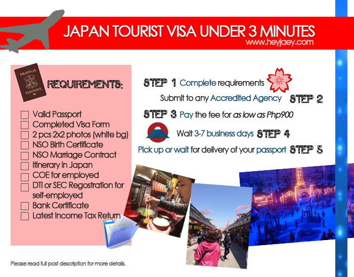 applying for a japan tourist visa 2016