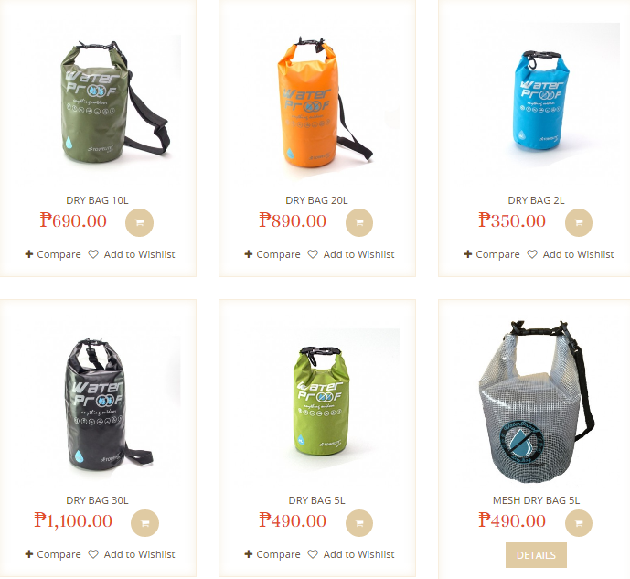 towelite dry bag selection