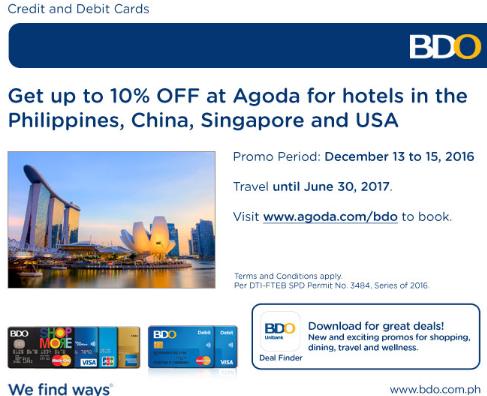 BDO Credit Card Promo