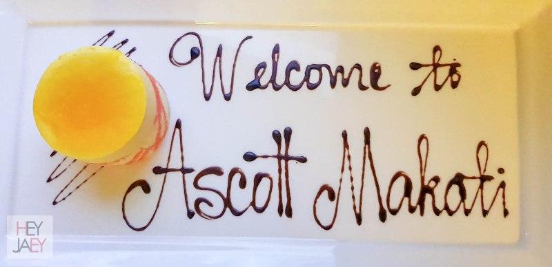 Ascott Makati Welcome Gesture