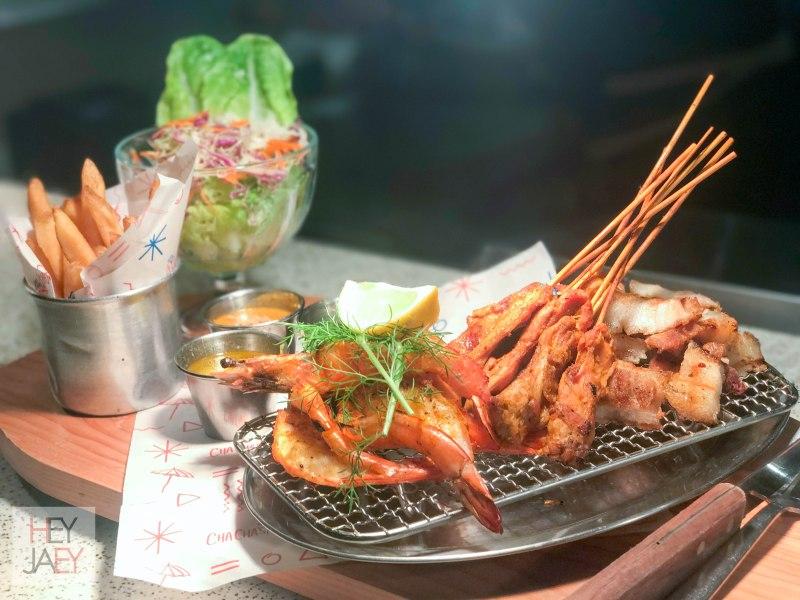Seafood in Boracay Cha Cha's Beach Cafe